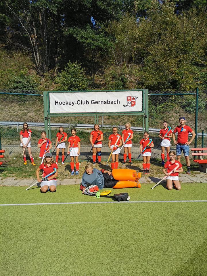 Hockey Mannschaft Trainer Mädchen