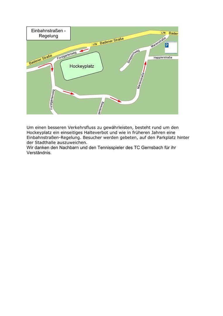 Gernsbach Einbahnstraßenregelung