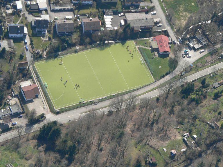 Hockeyplatz Luftbild