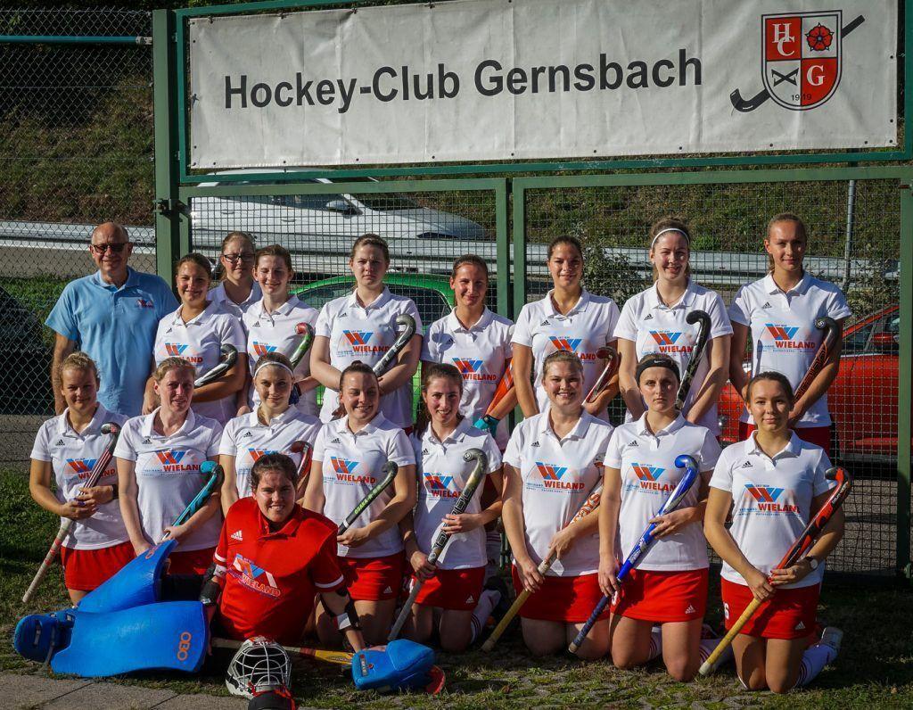 Hockey Mannschaft Gruppenbild Damen