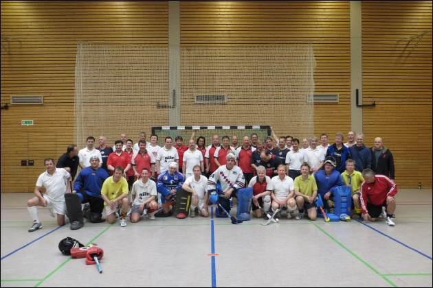 Hockey Mannschaft Gruppenbild Halle