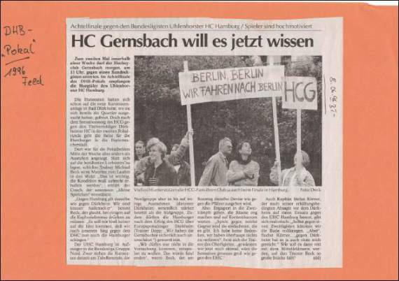 Hockey HCG Zeitung
