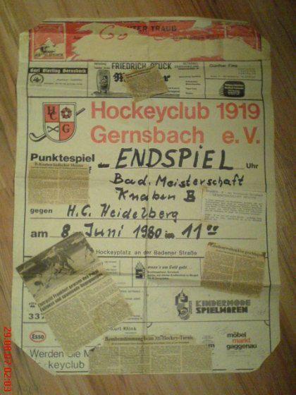 Hockey Gernsbach Flyer Zeitung