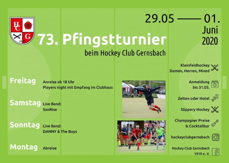 Hockey Pfingsten Flyer