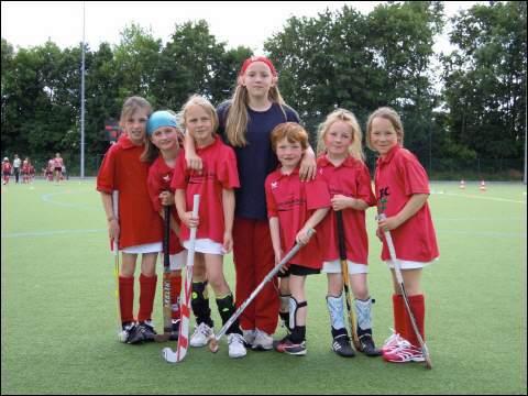 Hockey Mannschaft Gruppenbild Minis Bambinis
