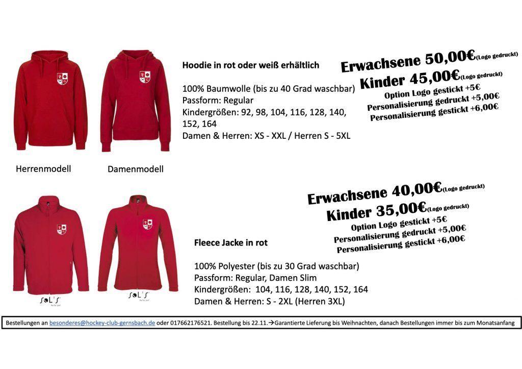 HCG Merch Kleidung Katalog